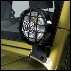 KC HiLiTES Windshield Light Mount Brackets In Black For 2007-18 Jeep Wrangler JK 2 Door & 4 Door Unlimited Models 7316