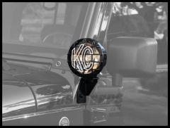 KC HiLiTES Windshield Light Side Mount Brackets In Black For 2007-18 Jeep Wrangler JK 2 Door & 4 Door Unlimited Models 7317