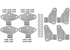 Kentrol Body Door Hinge Set Paintable Stainless Steel For 2007-18 Jeep Wrangler JKU 4 Door Models (8-Piece) 40581