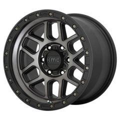 KMC KM544 Mesa Wheel, 17x9 with 5 on 5 Bolt Pattern - Black / Gray - KM54479050412N