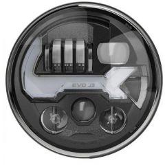 J.W. Speaker (Graphite / Non-Heated) EVO J3 LED Headlights For 2007-18 Jeep Wrangler JK 2 Door & Unlimited 4 Door Models 0555593