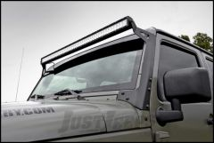 """Rough Country 50"""" Straight LED Light Bar Upper Windshield Mounting Brackets For 2007-18 Jeep Wrangler JK 2 Door & Unlimited 4 Door 70504"""