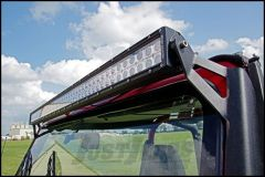 """Rough Country 50"""" Straight LED Light Bar Upper Windshield Mounting Brackets For 1987-95 Jeep Wrangler YJ 70508"""