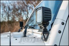 Rough Country Windshield Light Mounts Lower For 2007-18 Jeep Wrangler JK 2 Door & Unlimited 4 Door 6004