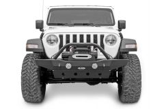 LoD Offroad Destroyer Series Mid-Width Front Bumper with Bull Bar for 18+ Jeep Wrangler JL & Gladiator JT JFB1813