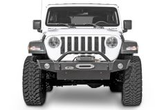 LoD Offroad Signature Series Mid-Width Front Bumper with Bull Bar and D-Ring Tabs for 18+ Jeep Wrangler JL & 20+ Gladiator JT JFB184-