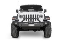 LoD Offroad Signature Series Full-Width Front Bumper with Bull Bar and D-Ring Tabs for 18+ Jeep Wrangler JL & 20+ Gladiator JT JFB185-