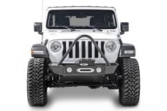 LoD Offroad Signature Series Shorty Front Bumper with Stinger and D-Ring Tabs for 18+ Jeep Wrangler JL & 20+ Gladiator JT JFB1861-
