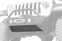 LoD Offroad Front Bumper Skid Plate for 18+ Jeep Wrangler JL and 20+ Gladiator JT with Signature Series Shorty Bumper JSP1831