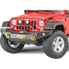 LoD Offroad Signature Series Front Full Width Bumper without Bull Bar for 07-18 Jeep Wrangler JK, JKU JFB0755-