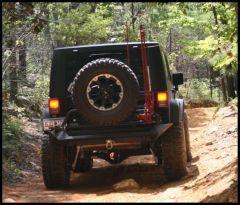 Fab Fours Hi-Lift Jack Mount For 2007-18 Jeep Wrangler JK 2 Door & Unlimited 4 Door (Fits Fab Fours Tire Carrier) M1450-1