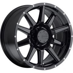 Mamba Offroad M15 Wheel in Black for 07-18 Jeep Wrangler JK and 99-18 Grand Cherokee WJ, WK, & WK2 M15-