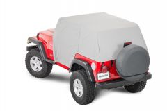 MasterTop Cab Cover with Door Flaps for 92-06 Jeep Wrangler YJ & TJ 11110009