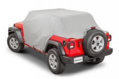 MasterTop Full Door Cab Cover for 18+ Jeep Wrangler JL Unlimited with Soft Top Folded Down 11111609