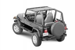 MasterTop ShadeMaker Mesh Bimini Top for 87-95 Jeep Wrangler YJ 142YJ-