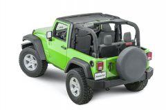 MasterTop ShadeMaker Mesh Bimini Top for 07-18 Jeep Wrangler JK 1420JK-