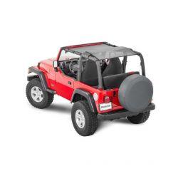 MasterTop Shademaker Bimini Top Plus for 92-06 Jeep Wrangler YJ, TJ 1422YJB-
