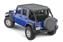 MasterTop ShadeMaker Mesh Bimini Top Plus for 07-18 Jeep Wrangler Unlimited JK 1422JKU-
