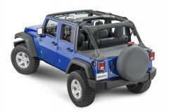 MasterTop Tonneau Cover for 07-18 Jeep Wrangler Unlimited JK 14500435
