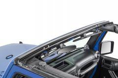 MasterTop No Drill Windshield Header for 07-18 Jeep Wrangler JK, JKU 14700001