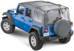 MasterTop Complete Soft Top Kit for 07-18 Jeep Wrangler JK Unlimited 4-Door 11132.5435