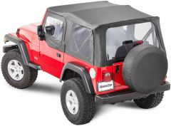 MasterTop Complete Soft Top Kit with Upper Doors for 97-06 Jeep Wrangler TJ 11132TJC-