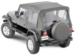 MasterTop Complete Soft Top Kit with Upper Doors for 88-95 Jeep Wrangler YJ 1132YJC-