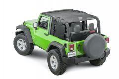 MasterTop Shademaker Bimini Top Plus for 07-18 Jeep Wrangler JK 2-Door 1422JK-
