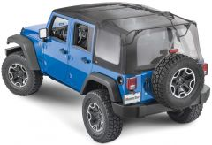 MasterTop Complete Soft Top Kit in MasterTwill Fabric for 07-18 Jeep Wrangler JK Unlimited 4-Door 11132.5424