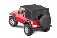 MasterTop Replacement Soft Top with Tinted Windows in MasterTwill Fabric for 97-06 Jeep Wrangler TJ 1520-