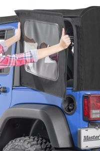 MasterTop Replacement Rear Quarter Windows for 07-18 Jeep Wrangler JK Unlimited with Original Factory Mopar Soft Top 16011-