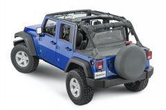 MasterTop Zip Down Windstopper for 07-18 Jeep Wrangler Unlimited JK 14400435