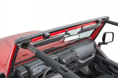 MasterTop No Drill Windshield Header for 97-06 Jeep Wrangler TJ 14700201