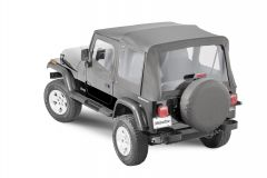 MasterTop Premium Replacement Soft Top with Clear Windows for 88-95 Jeep Wrangler YJ 151101YJ-