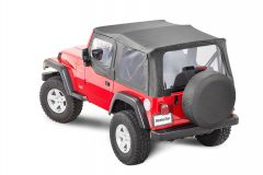 MasterTop Premium Replacement Soft Top with Clear Windows & Upper Door Skins for 97-06 Jeep Wrangler TJ 151102TJ-