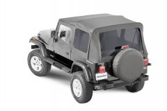 MasterTop Premium Replacement Soft Top with Tinted Windows for 88-95 Jeep Wrangler YJ 15111YJ-