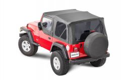 MasterTop Premium Replacement Soft Top with Tinted Windows & Upper Door Skins for 97-06 Jeep Wrangler TJ 151TJ-