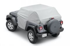 MasterTop Full Door Cab Cover for 18+ Jeep Wrangler JL with Soft Top Folded Down 11111509
