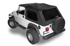 MasterTop SkyMaster Frameless Fastback Soft Top for 04-06 Jeep Wrangler Unlimited LJ 155TLJ-