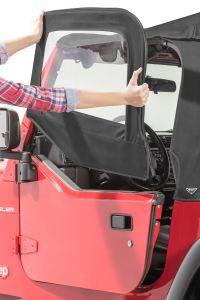 MasterTop Replacement Upper Door Pair for 97-06 Jeep Wrangler TJ with Half Steel Doors 160292-