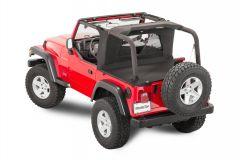 MasterTop Wind Stopper Plus & Tonneau Cover 2 Piece Kit for 97-06 Jeep Wrangler TJ 144542TJ-
