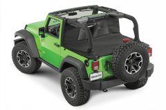 MasterTop Wind Stopper Plus & Tonneau Cover 2-Piece Kit for 07-18 Jeep Wrangler JK 2-Door 14450324