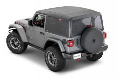 MasterTop  Mesh Trail Screens for 18+ Jeep Wrangler JL 2-Door with Factory Soft Top 16032501