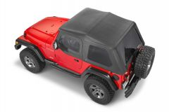 QuadraTop Adventure Top With Upper Doors in Spice for 97-06 Jeep Wrangler TJ 11113D-