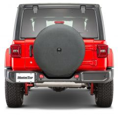 MasterTop Spare Tire Cover in Black for 18+ Jeep Wrangler JL, JL Unlimited 1463-