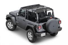 MasterTop ShadeMaker Freedom Mesh Bimini Top Plus for 18+ Jeep Wrangler JL 2-Door 142015JL-