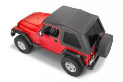 MasterTop SkyMaster Frameless Fastback Soft Top for 97-06 Jeep Wrangler TJ 1550123TJ-