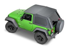 MasterTop SkyMaster Frameless Fastback Soft Top for 07-18 Jeep Wrangler JK 155013-