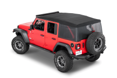 MasterTop Mesh Trail Screens for 18+ Jeep Wrangler JL Unlimited with Factory Soft Top 16032601