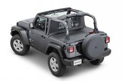 MasterTop Wind Stopper & Tonneau Cover Combo Kit for 18+ Jeep Wrangler JL 2-Door 14440JL-